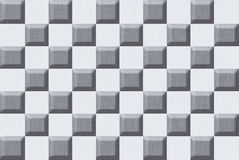 Gray Blocks Abstract Background Seamless foncé Photo libre de droits