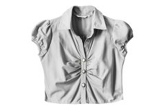 Gray blouse isolated Stock Image