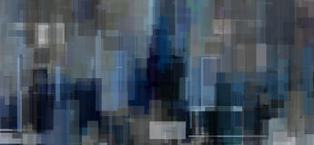 Gray Blue Abstract Geometric Photo libre de droits