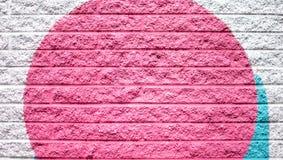 Gray Blue Brick Wall Background rose et argenté Images libres de droits