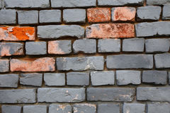Gray blue brick wall Royalty Free Stock Photo