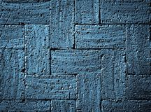 Gray blue burnt bricks pavement Royalty Free Stock Photo