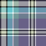 Gray blue check fabric texture seamless pattern. Vector illustration Stock Photography