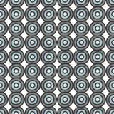 Gray blue circles seamless pattern. Retro gray blue circles abstract geometric seamless pattern on white background Stock Photo