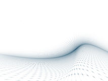 Gray-Blue Curved Grid Template Royalty Free Stock Photos
