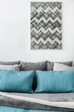 Gray and blue cushions Stock Photo