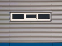 Gray and blue facade. Of a building in the Netherlands Royalty Free Stock Photography