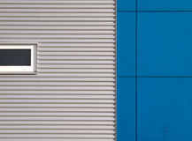 Gray and blue facade. Of a building in the Netherlands Royalty Free Stock Image