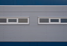 Gray and blue facade. Of a building in the Netherlands Stock Photography