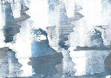 Gray-blue hand-drawn wash drawing picture. Hand-drawn abstract watercolor texture. Used contrasting and transient colors Stock Image