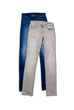 Gray and blue jeans Royalty Free Stock Photography