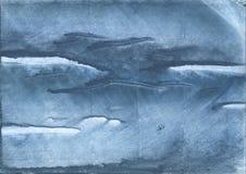 Gray Blue nublou-se a pintura do desenho de lavagem imagem de stock