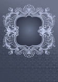 Gray Blue Ornate Cover royalty free illustration