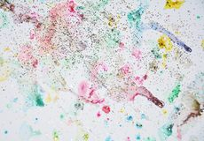Gray blue pink watercolor pastel sparkling abstract background, pattern Royalty Free Stock Photo