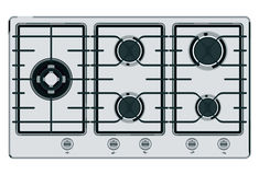 Gray-blue stove Royalty Free Stock Photo