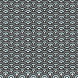 Gray blue wave seamless pattern Stock Image