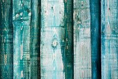 Gray-blue wooden wall from boards close up. Royalty Free Stock Photography