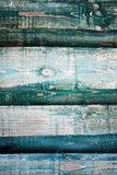 Gray-blue wooden wall from boards close up. Royalty Free Stock Photos