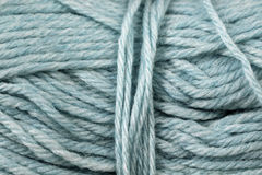 Gray Blue Yarn Texture Close  Photographie stock