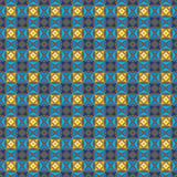 Gray, blue and yellow colors pattern. Royalty Free Stock Images