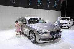 Gray bmw 730 car Stock Photography
