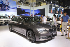 Gray bmw 730 car Stock Image