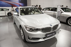 Gray bmw 3 series gt car Stock Photo