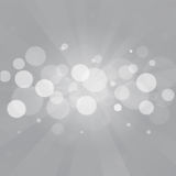 Gray bokeh abstract background. Vector Royalty Free Stock Photo