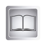 Gray book open icon. Illustraction design image Royalty Free Stock Photos