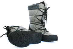 Gray boots Royalty Free Stock Photo