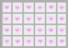 Gray Border Background con los corazones rosados libre illustration