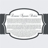 Gray Boutique Template Stock Images