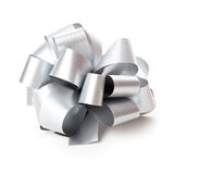 Gray bow. Royalty Free Stock Images