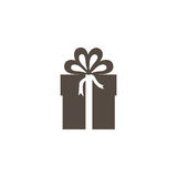Gray box with bow ribbon icon. Illustraction design Royalty Free Stock Photo
