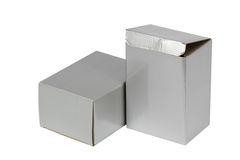 Gray boxes Royalty Free Stock Images