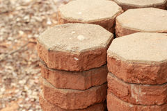 Gray brick for construction background texture royalty free stock images