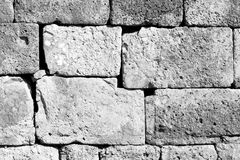 gray brick in greece     the     texture  abstract   of a ancien Royalty Free Stock Photos