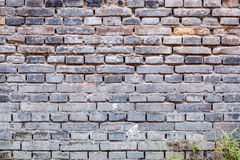 Gray brick of old wall Royalty Free Stock Photography