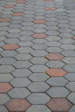 Gray brick road Royalty Free Stock Images