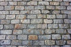 Gray brick roadway - background texture stock photos