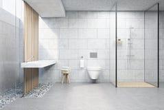 Gray brick shower Royalty Free Stock Image