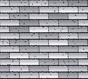 Gray brick wall. Vector illustration of gray brick wall Stock Photos