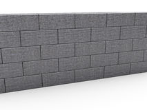Gray Brick Wall Photographie stock