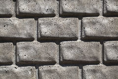 Gray brick wall background. Royalty Free Stock Image