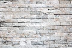 Gray brick wall background Royalty Free Stock Photos
