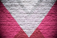 Gray Brick Wall Background rosa e d'argento Fotografia Stock