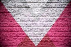 Gray Brick Wall Background rosado y de plata Fotografía de archivo
