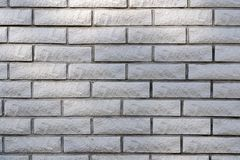 Gray brick wall background. Square gray brick wall background with flare Royalty Free Stock Photos
