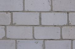 Gray brick wall background texture block, surface, cement, royalty free stock photography
