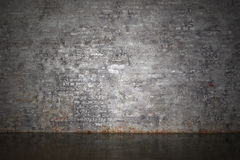 The gray brick wall Royalty Free Stock Photo
